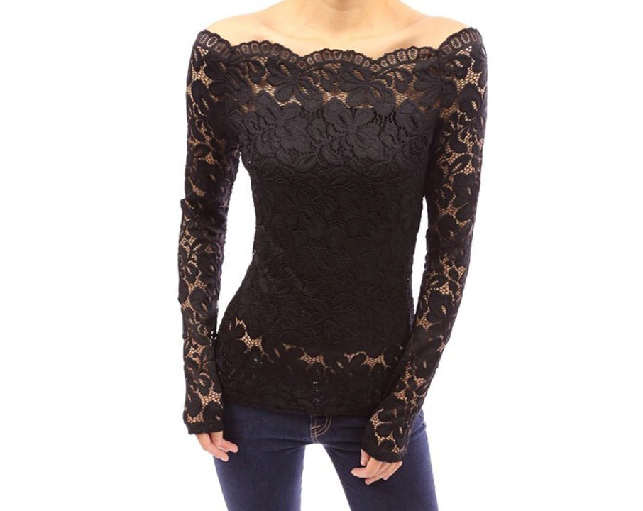 TOP LACE BLACK LUXURY