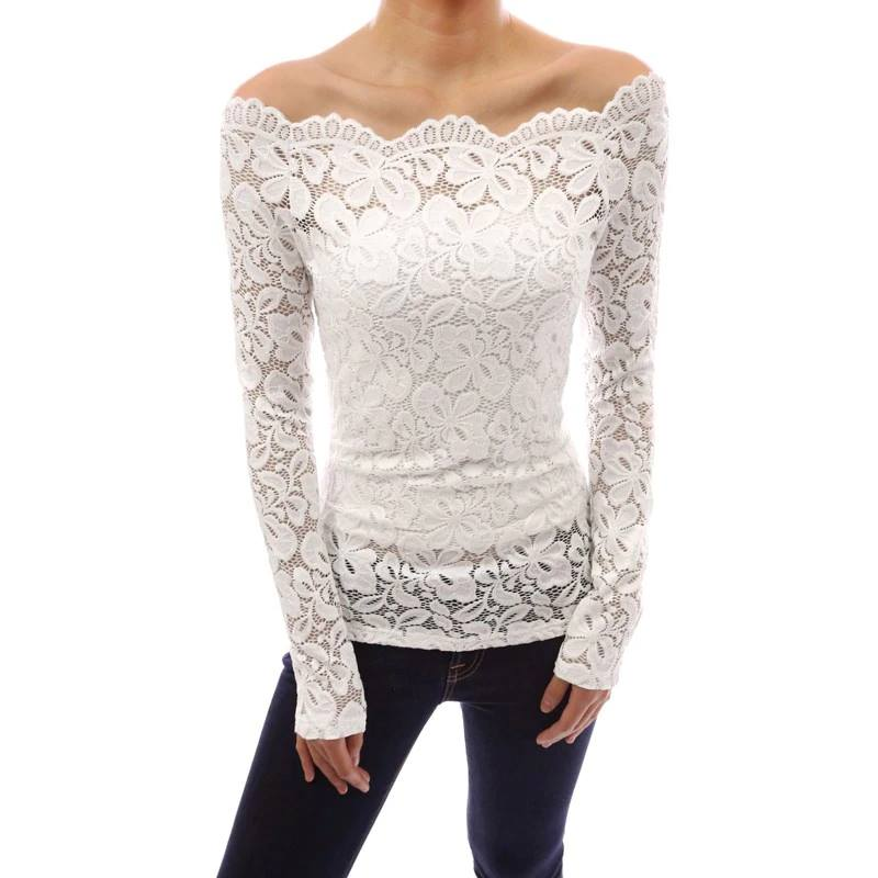 TOP LACE WHITE LUXURY